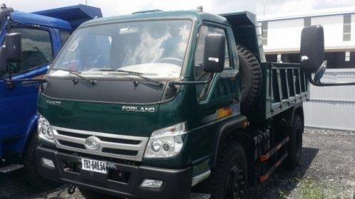 Bán xe ben Thaco Forland FLD600C đời 2017, màu xanh lục