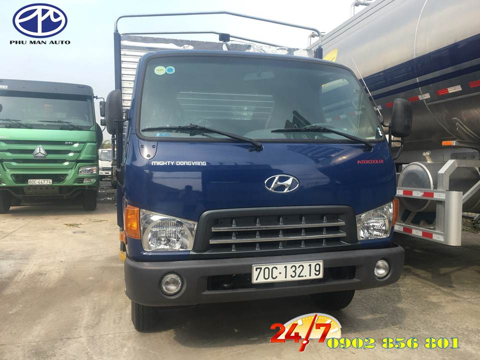 Xe tải 7 tấn HYUNDAI nhập khẩu 3 cục, thùng hàng dài 5 mét.