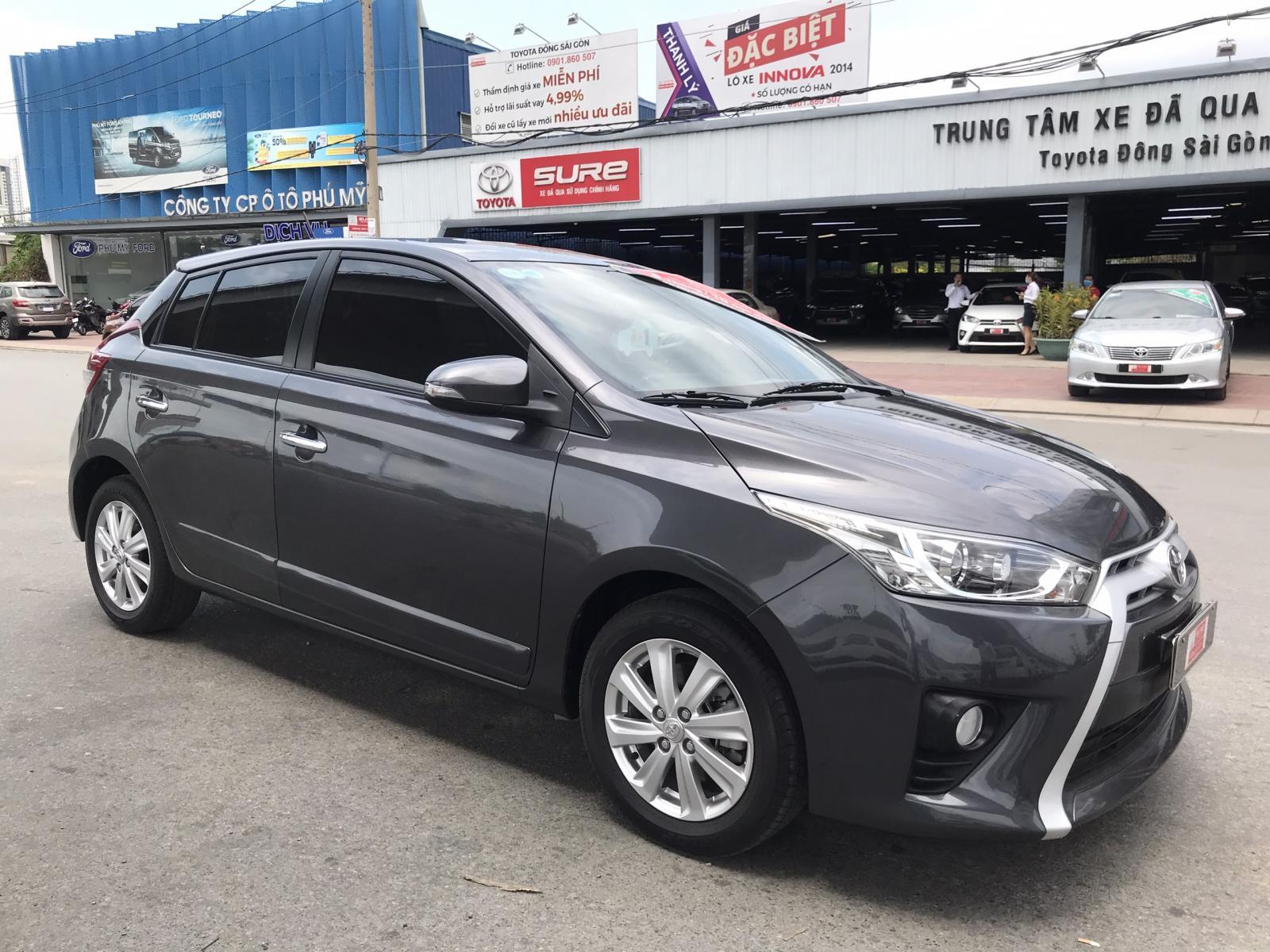 Bán Toyota Yaris G số tự động đời 2015 - màu xám - xe nhập Thái Lan