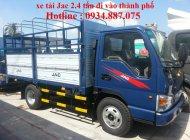 Bán xe tải Jac 2.4 tấn – 2t4 – 2,4 tấn thùng dài 3.7 mét đi vào thành phố ban ngày giá 295 triệu tại Tp.HCM