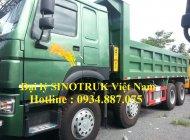Bán xe ben Howo 371 4 chân thùng 14 khối –  xe ben Howo 4 chân 371 nhập khẩu giá 1 tỷ 310 tr tại Tp.HCM