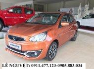 Bán Mitsubishi Mirage màu cam, xe nhập khẩu, siêu lợi xăng, hỗ trợ trả góp, LH 0911477123 giá 345 triệu tại Đà Nẵng