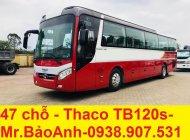 Cần bán xe 47 chỗ Thaco TB120S dài 12m, hỗ trợ trả góp qua ngân hàng giá 2 tỷ 480 tr tại Tp.HCM