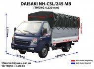 Bán xe tải DaiSaKi 2T45 động cơ Isuzu, hỗ trợ vay 80% giá trị xe giá 290 triệu tại Tiền Giang