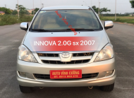 Bán xe Toyota Innova 2.0G năm sản xuất 2007, màu bạc giá 338 triệu tại Hà Nội