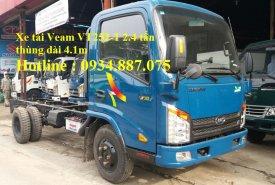 Bán xe tải Veam Hyundai 2t4 (2,4 tấn) thùng dài 4.3m đi vào thành phố giá 365 triệu tại Tp.HCM