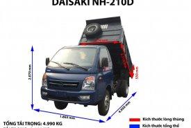 Bán xe ben Daisaki 2.1 tấn, thùng xe 2.5, khối động cơ Isuzu, giá gốc nhà máy giá 401 triệu tại Tp.HCM