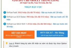 Đặt cọc xe mới VinFast Fadil bản tiêu chuẩn 2019 giá 395 triệu tại Hà Nội