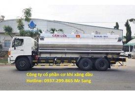 Bán xe bồn xi téc Hino 20 khối 4 ngăn chở xăng dầu trả góp TPHCM giá 2 tỷ 210 tr tại Tp.HCM