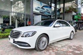 Bán Mercedes S450L 2021 bản Limited màu trắng siêu lướt 1000km rẻ hơn mua mới tới 600tr giá 4 tỷ 120 tr tại Hà Nội