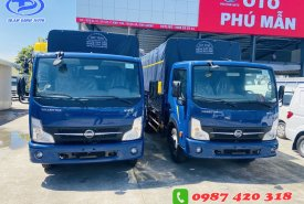 Xe tải Nissan 1T9 thùng mui bạc 4m3, hỗ trợ trả góp đến 80% giao xe ngay giá 120 triệu tại Bình Dương